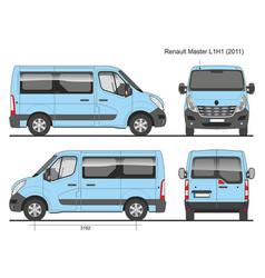 Renault master l1h1 passenger bus 2011 vector