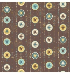 Retro Christmas pattern circles and abstract star vector