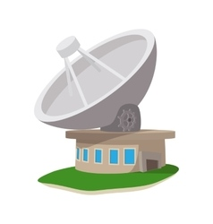 Satellite communication station cartoon icon vector
