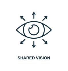 Shared vision icon outline style thin line vector