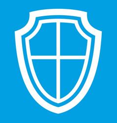 shield icon white vector image