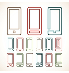 Smart phone abstract icons vector
