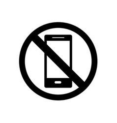 Smartphone ban vector