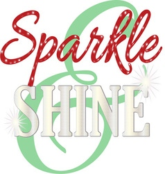 Sparkle and shine vector