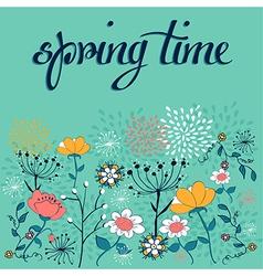 Spring time flower background vector