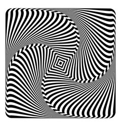 Swirl and torsion op art design vector