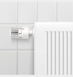 temperature control knob realistic image vector image