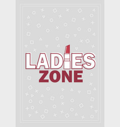 template for ladies concept in vector image
