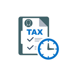 Time to pay tax - accounting reminder icon with vector