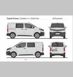 Toyota proace combi compact van l1 2016-present vector