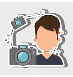 User photo camera design vector