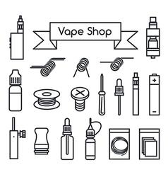 Vape Shop icons vector
