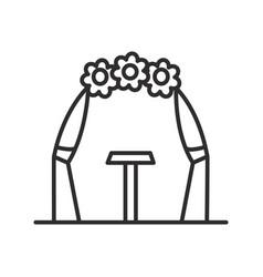 wedding arch line icon sign vector image