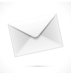 White paper envelope vector image