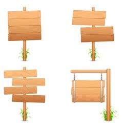 Wooden signs vector
