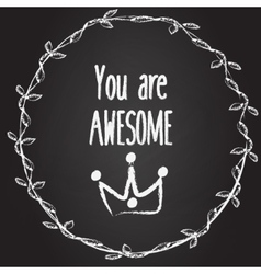 You are awesome background with hand drawn vector image