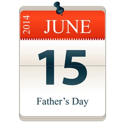 Calendar of Fathers Day vector image