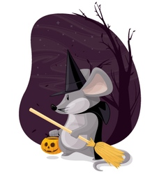 Witch Mouse vector image vector image
