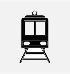 icon train railway vector image