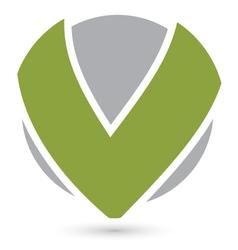 Letter v logo icon design vector image