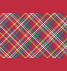 check colored diagonal plaid madras seamless vector image vector image