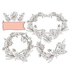 decorative elements floral vector image vector image