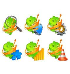 economic development icon set vector image