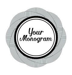 round monogram design element vector image vector image