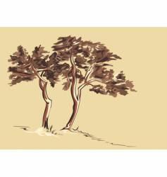 trees sketch vector image vector image