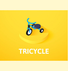 tricycle isometric icon isolated on color vector image
