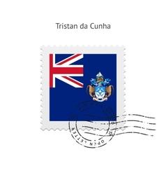 Tristan da cunha flag postage stamp vector