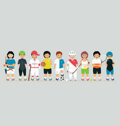 young athletes vector image vector image