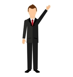 businessman isolated icon design vector image vector image