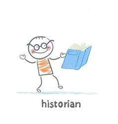 Historian book readers vector image