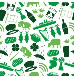 ireland country theme symbols color icons seamless vector image vector image