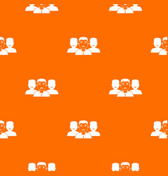 people group pattern seamless vector image