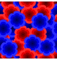 red and blue roses pattern vector image