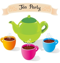 tea party vector image vector image
