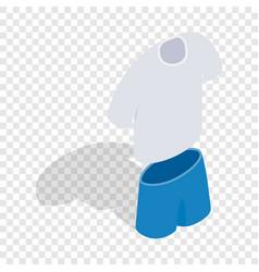 tennis man uniform isometric icon vector image