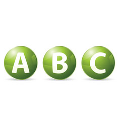 Abc icons vector