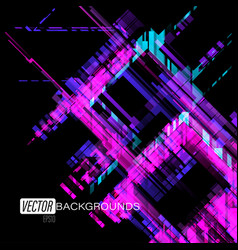 Abstract translucent geometric colors on a black vector