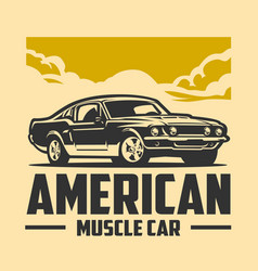 American muscle car graphic design isolated vector