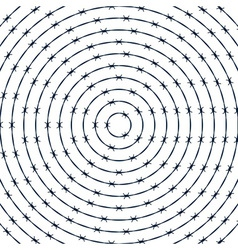 Barbwire round pattern vector
