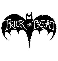 Bat trick or treat vector