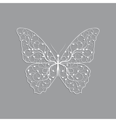 Beautiful paper butterfly with floral pattern vector image