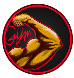 Biceps sport gym sport workout modern eps 10 vector