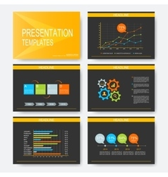 Black yellow set of templates for vector