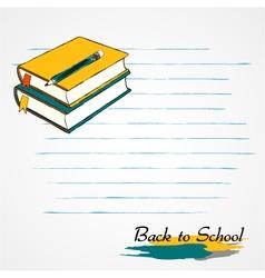 Books pencil vector