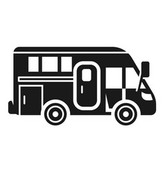 Camping motorhome icon simple style vector
