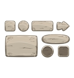 Cartoon stone game assets set vector image